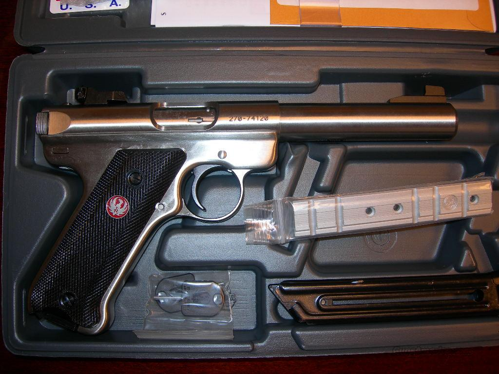Ruger MKIII Target 5.5 inch .22 LR all Stainless  Guns > Pistols > Ruger Semi-Auto Pistols > Mark I & II Family