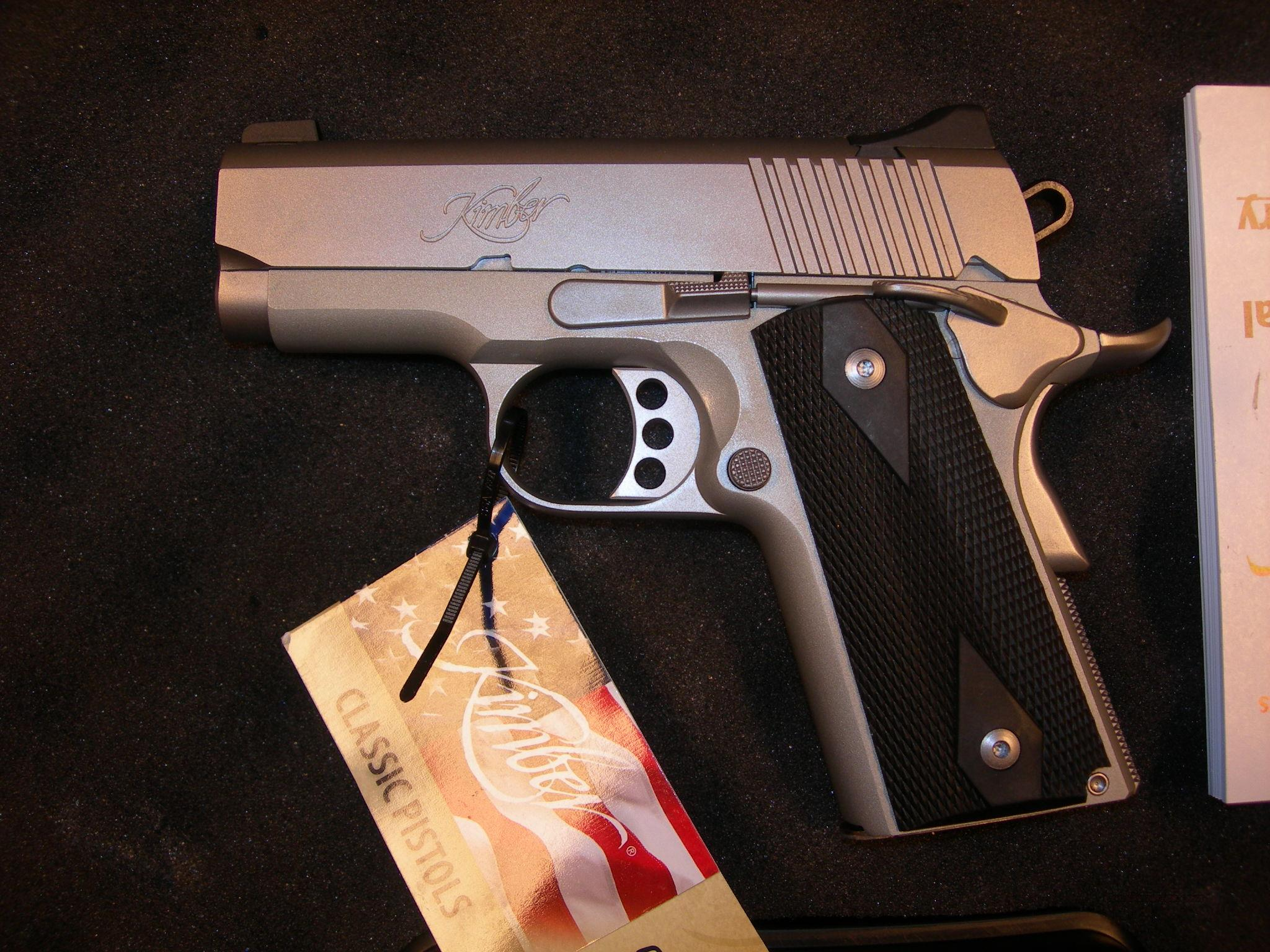 Kimber Stainless Ultra Carry II 3 inch .45 acp  Guns > Pistols > Kimber of America Pistols
