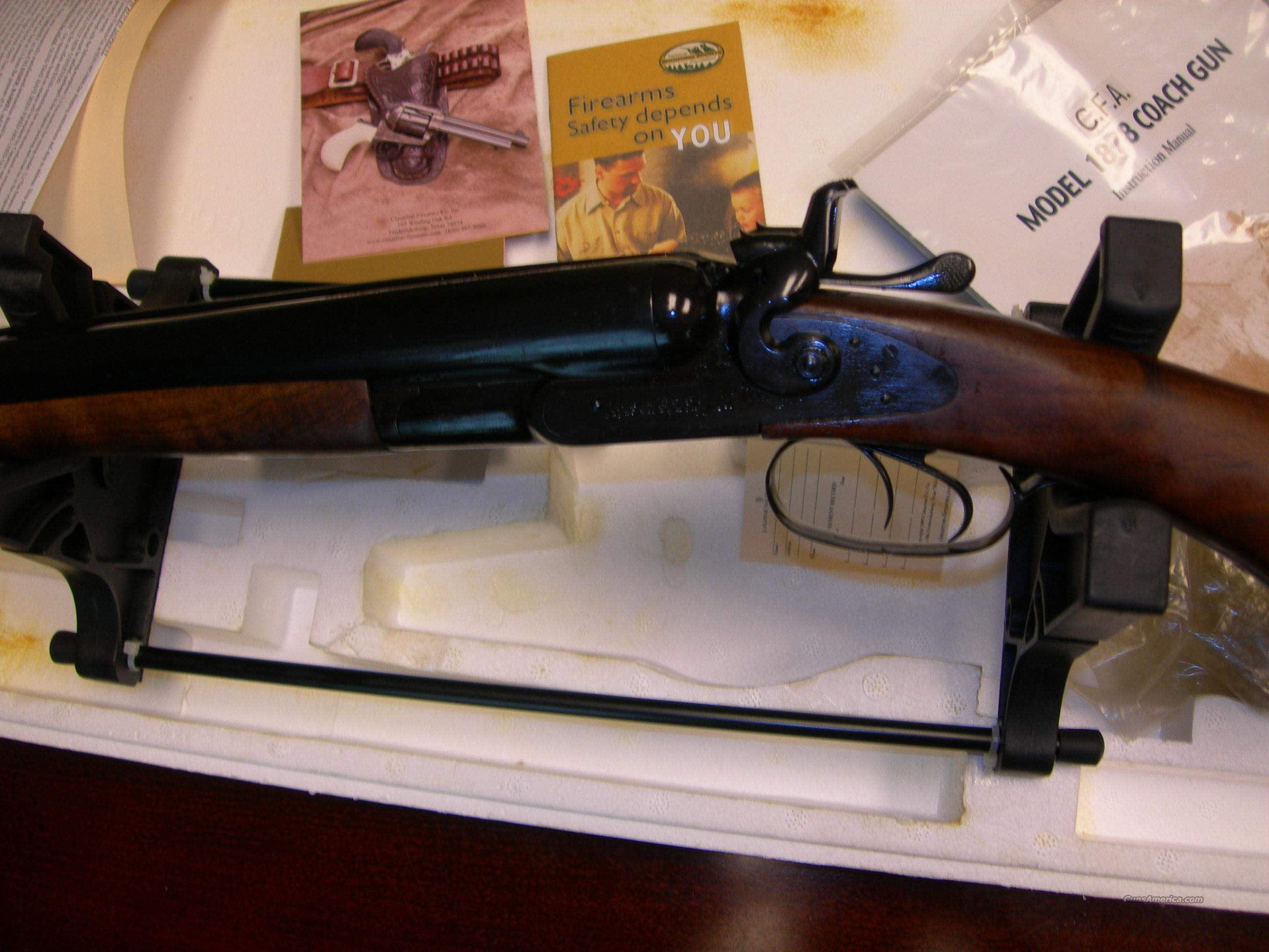 "Cimaron 1878 Coach gun std Blue/Walnut 12ga SxS 20"" Double Hammers Double Triggers  Guns > Shotguns > Cimmaron Shotguns"