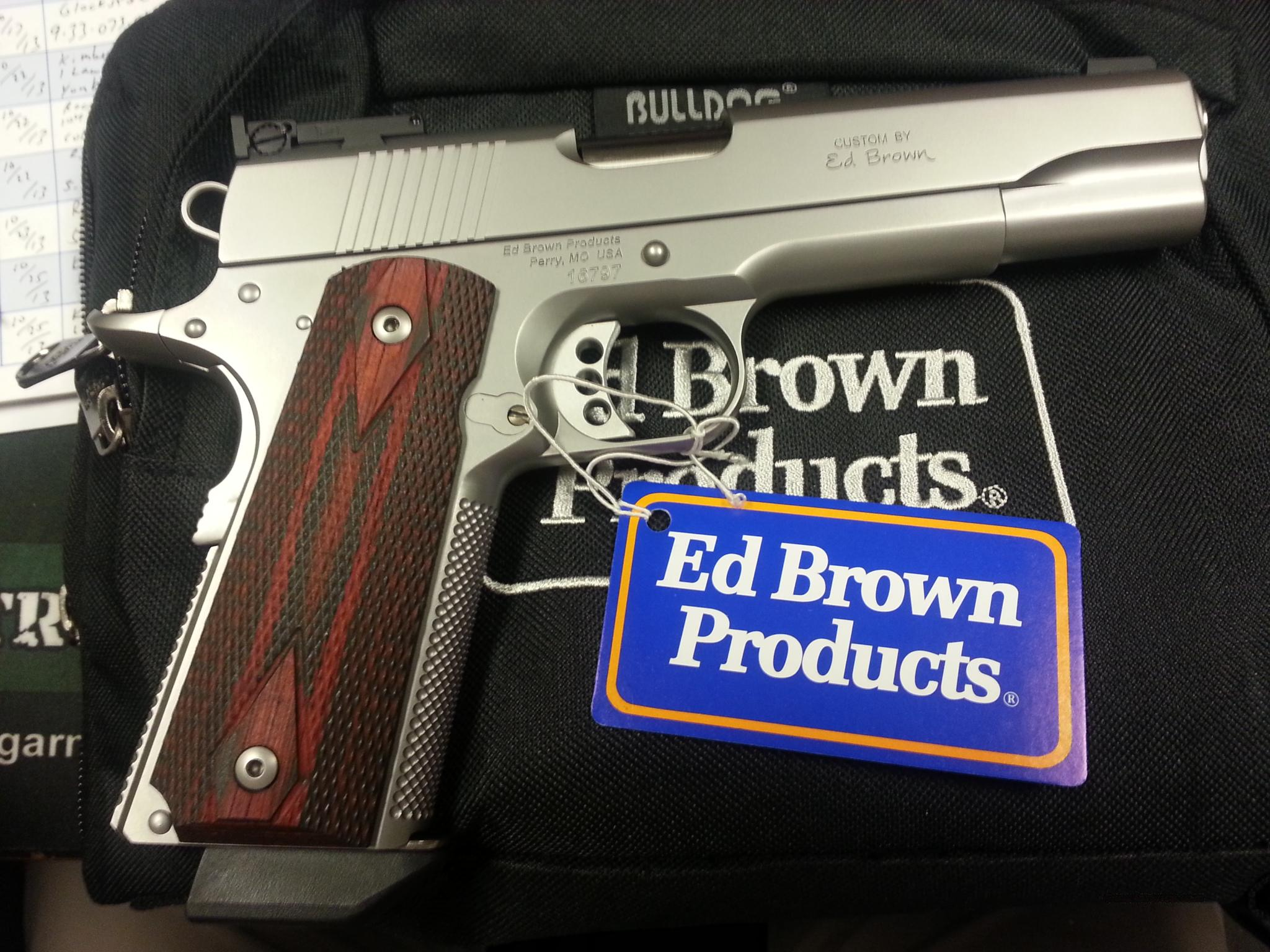 Ed Brown Stainless .38Super Special run of 100   Guns > Pistols > Ed Brown Pistols