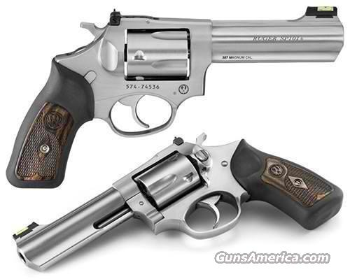 "Ruger SP101 357 4.2"" SS Engraved Wood Grips 5771   Guns > Pistols > Ruger Double Action Revolver > SP101 Type"