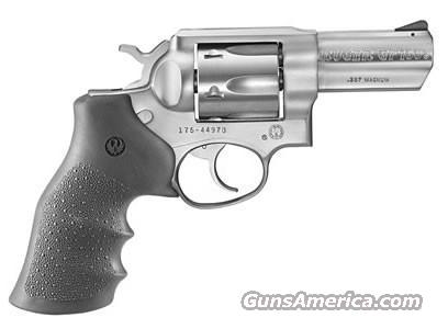 "Ruger GP100 357 3"" Stainless Hogue Grip 1715  Guns > Pistols > Ruger Double Action Revolver > SP101 Type"