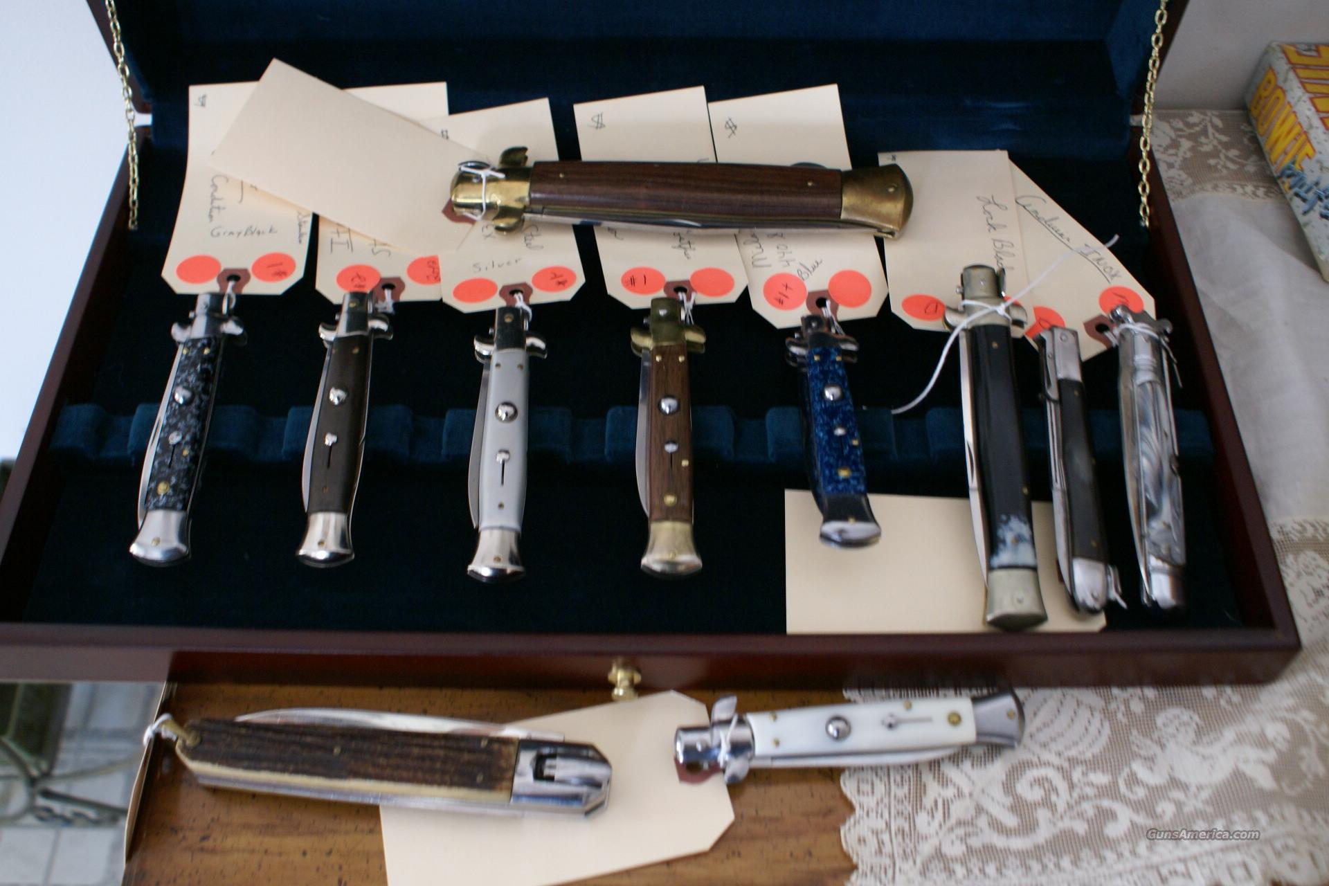 COLECTION OF SWITCH BLADES/LOCKING KNIFES  Non-Guns > Knives/Swords > Knives > Folding Blade > Imported