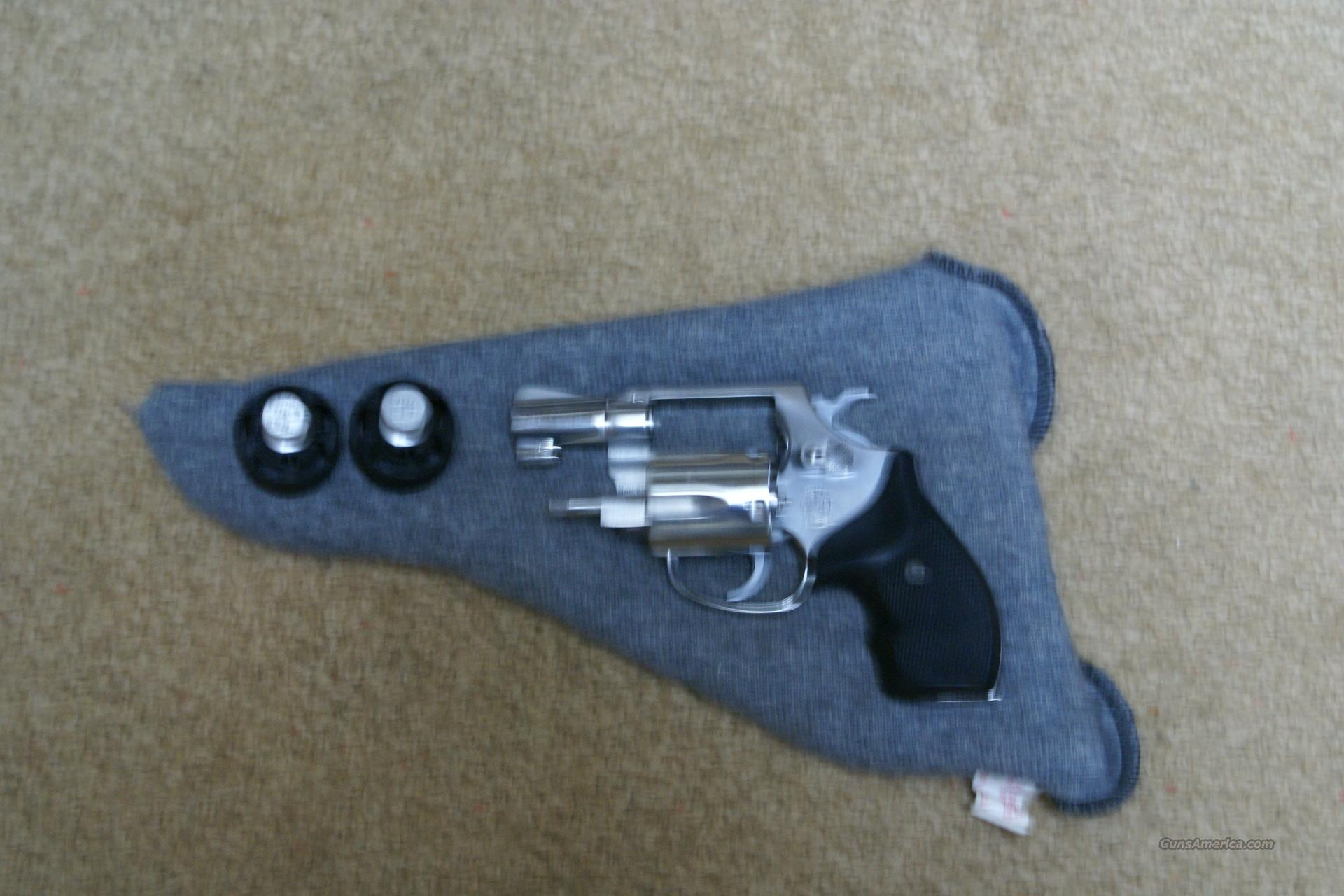 SMITH & WESSON MODEL 60 NO DASH PINNED .38 SPECIAL REVOLVER, HOUGH GRIPS  Guns > Pistols > Smith & Wesson Revolvers > Full Frame Revolver