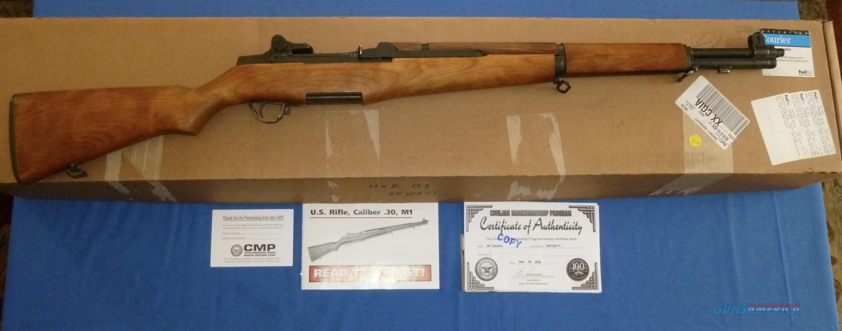 CMP HARRINGTON & RICHARD M1 GARAND W/BOX AND PAPERWORK  Guns > Rifles > Military Misc. Rifles US > M1 Garand