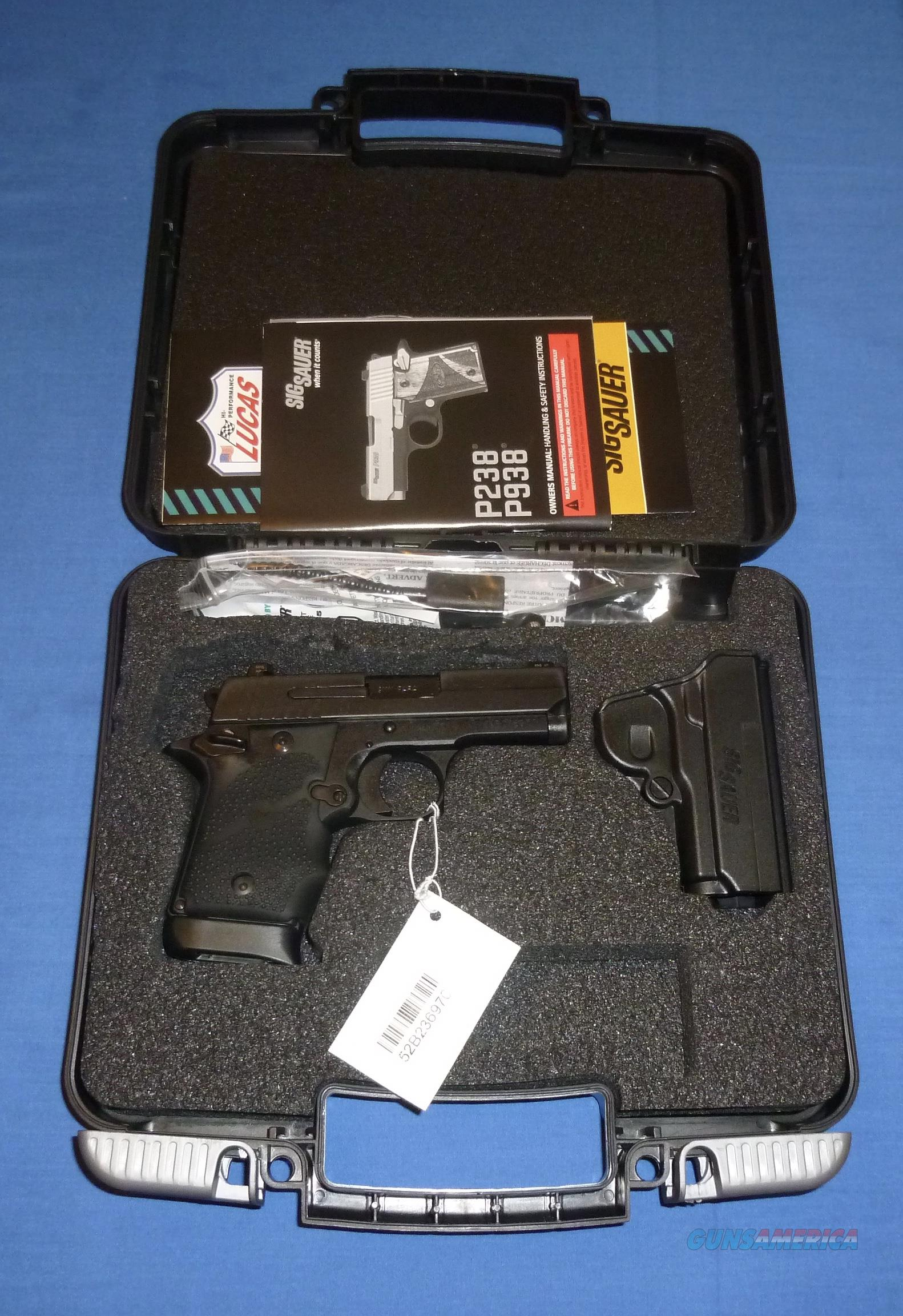 SALE PRICED! SIG P938 BRG MICRO-COMPACT 9MM PISTOL W/NIGHT SIGHT & HOLSTER  Guns > Pistols > Sig - Sauer/Sigarms Pistols > P938