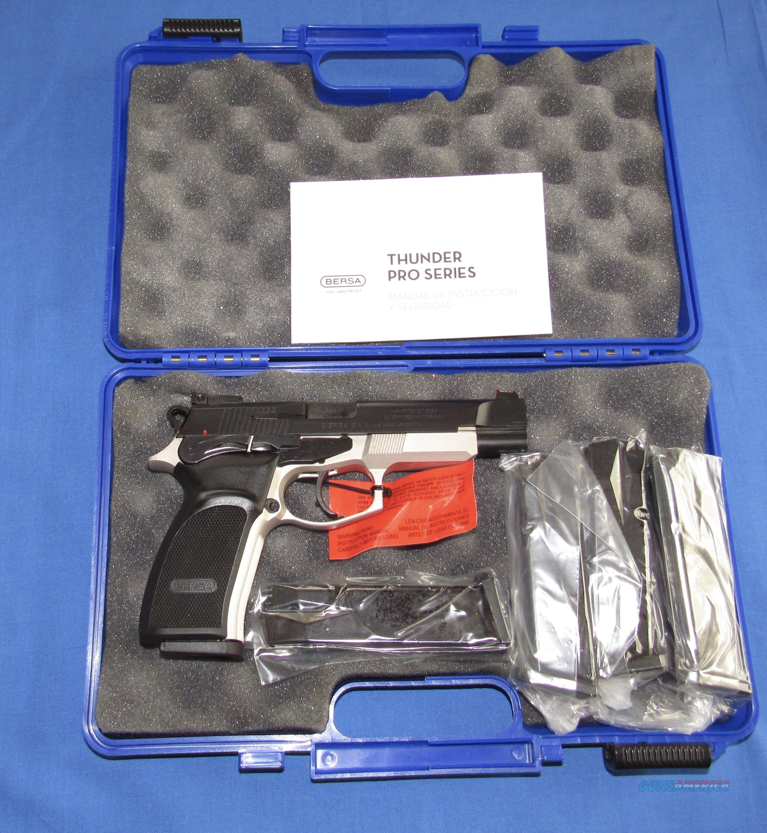 CLEARANCE PRICED!  BERSA THUNDER PRO 9 XT DUOTONE 9MM PISTOL W/5 MAGAZINES  Guns > Pistols > Bersa Pistols