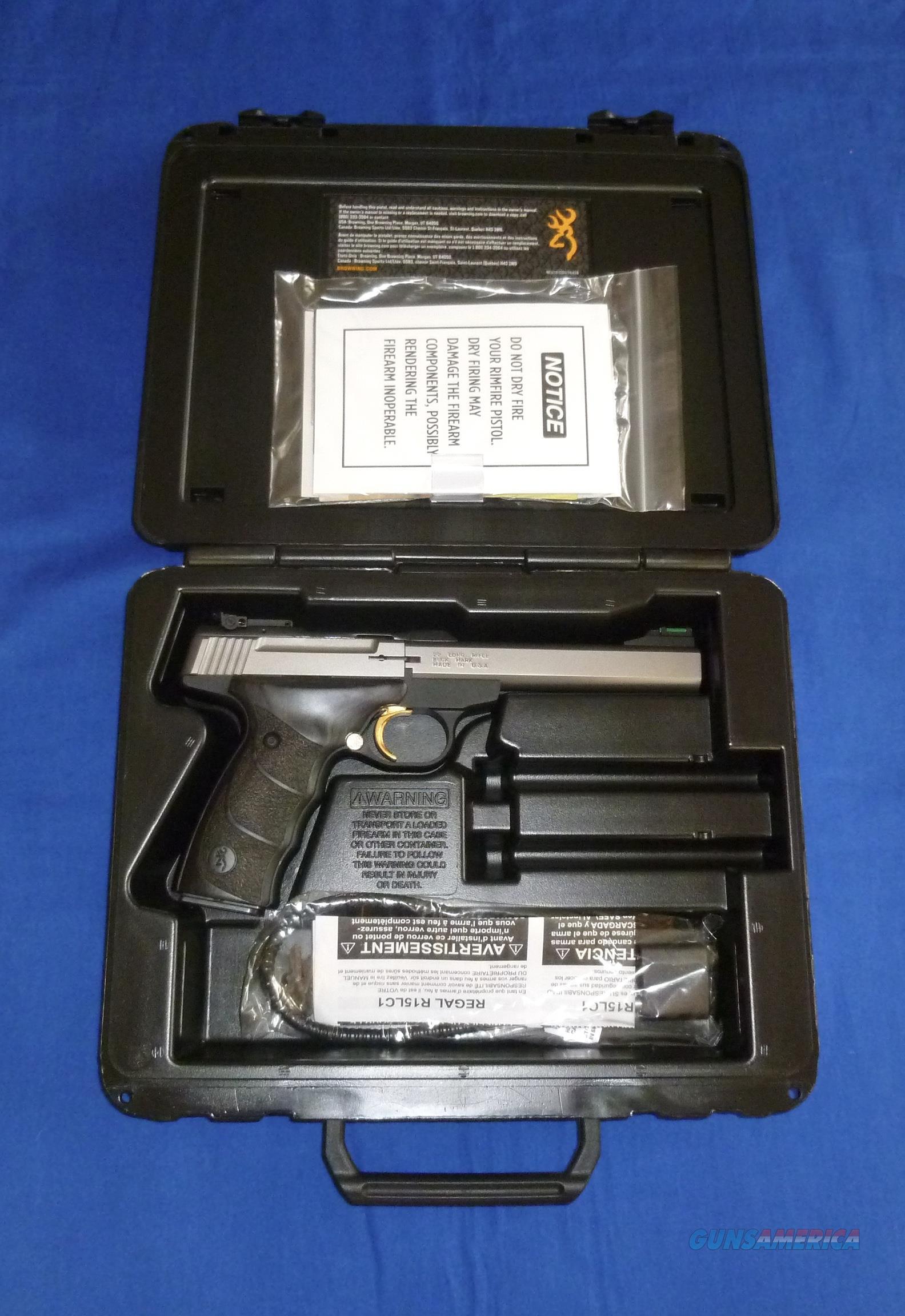 SALE PRICED!  BROWNING BUCK MARK PLUS UDX STAINLESS STEEL 22LR SEMI-AUTO PISTOL  Guns > Pistols > Browning Pistols > Buckmark