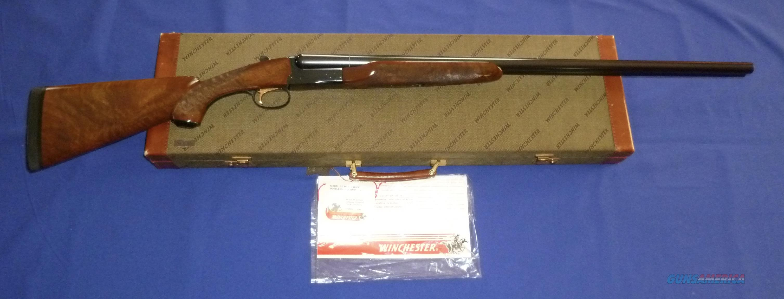 WINCHESTER MODEL 23 HEAVY DUCK 12 GAUGE DOUBLE BARREL SHOTGUN W/MATCHING CASE  Guns > Shotguns > Winchester Shotguns - Modern > SxS