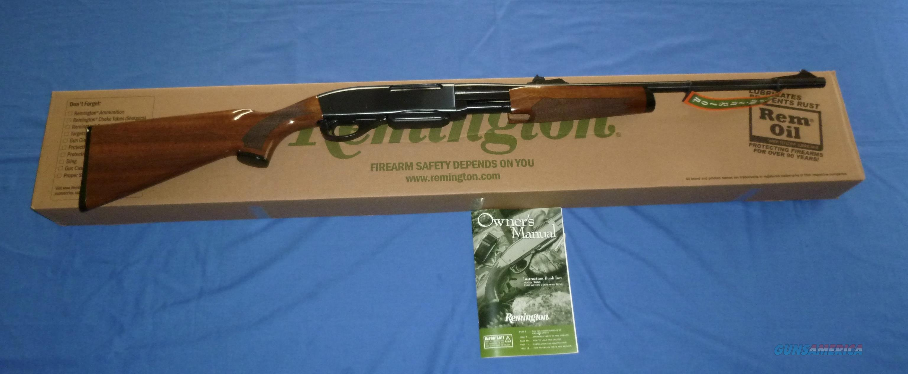 REMINGTON 7600 30-06 CAL. PUMP ACTION RIFLE HIG... for sale