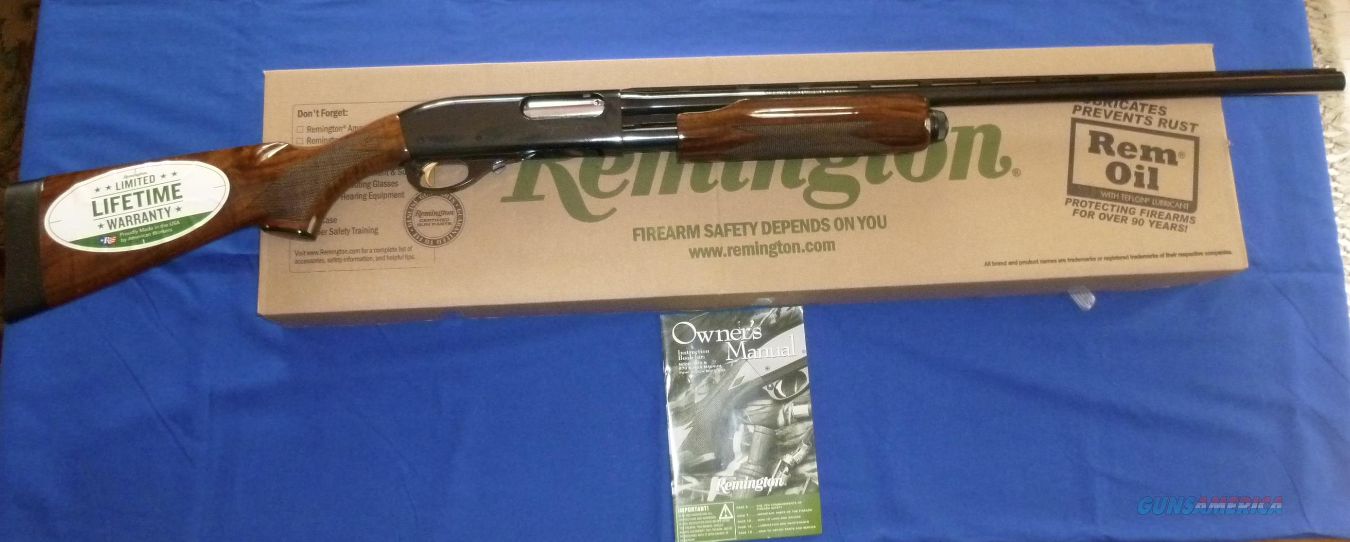 REMINGTON 870 WINGMASTER 12 GAUGE PUMP SHOTGUN WITH CLARO WALNUT WOOD  Guns > Shotguns > Remington Shotguns  > Pump > Hunting