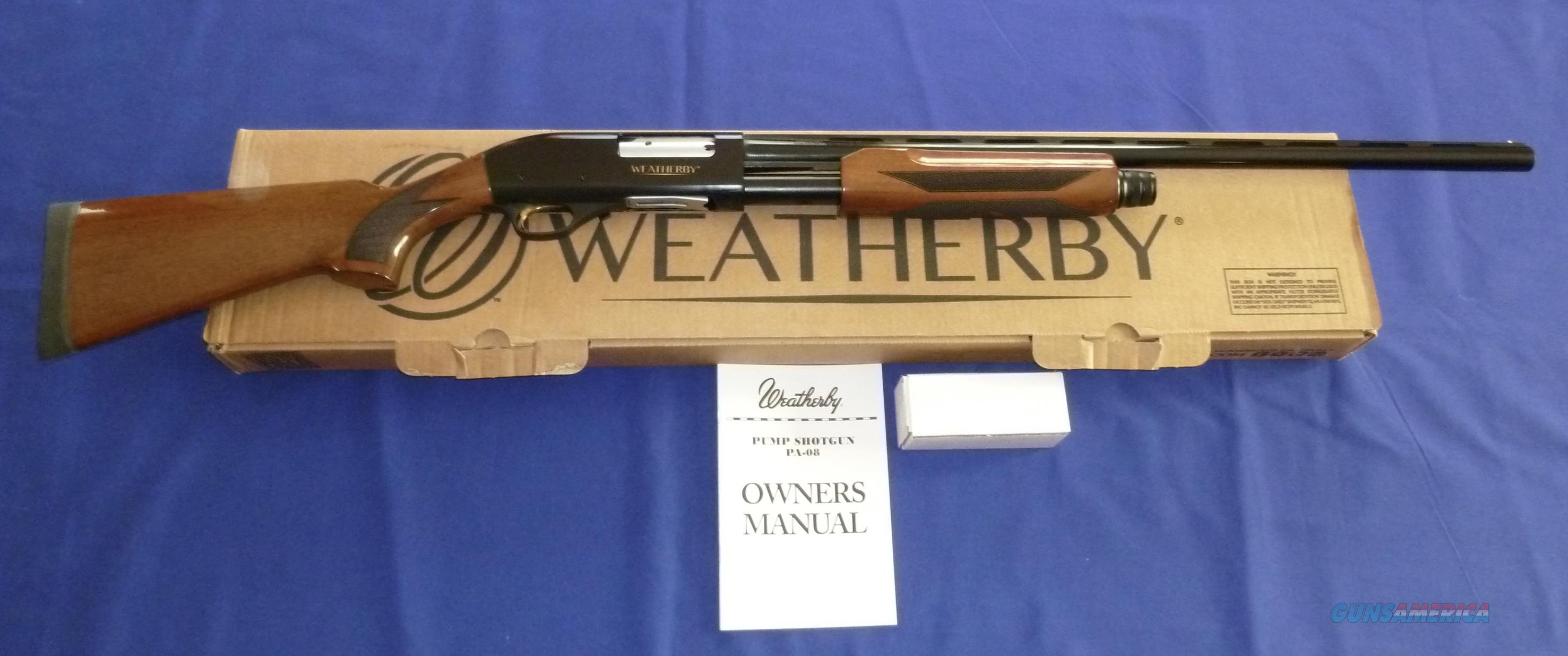 WEATHERBY PA-08 UPLAND 12 GAUGE PUMP SHOTGUN  Guns > Shotguns > Weatherby Shotguns > Pump