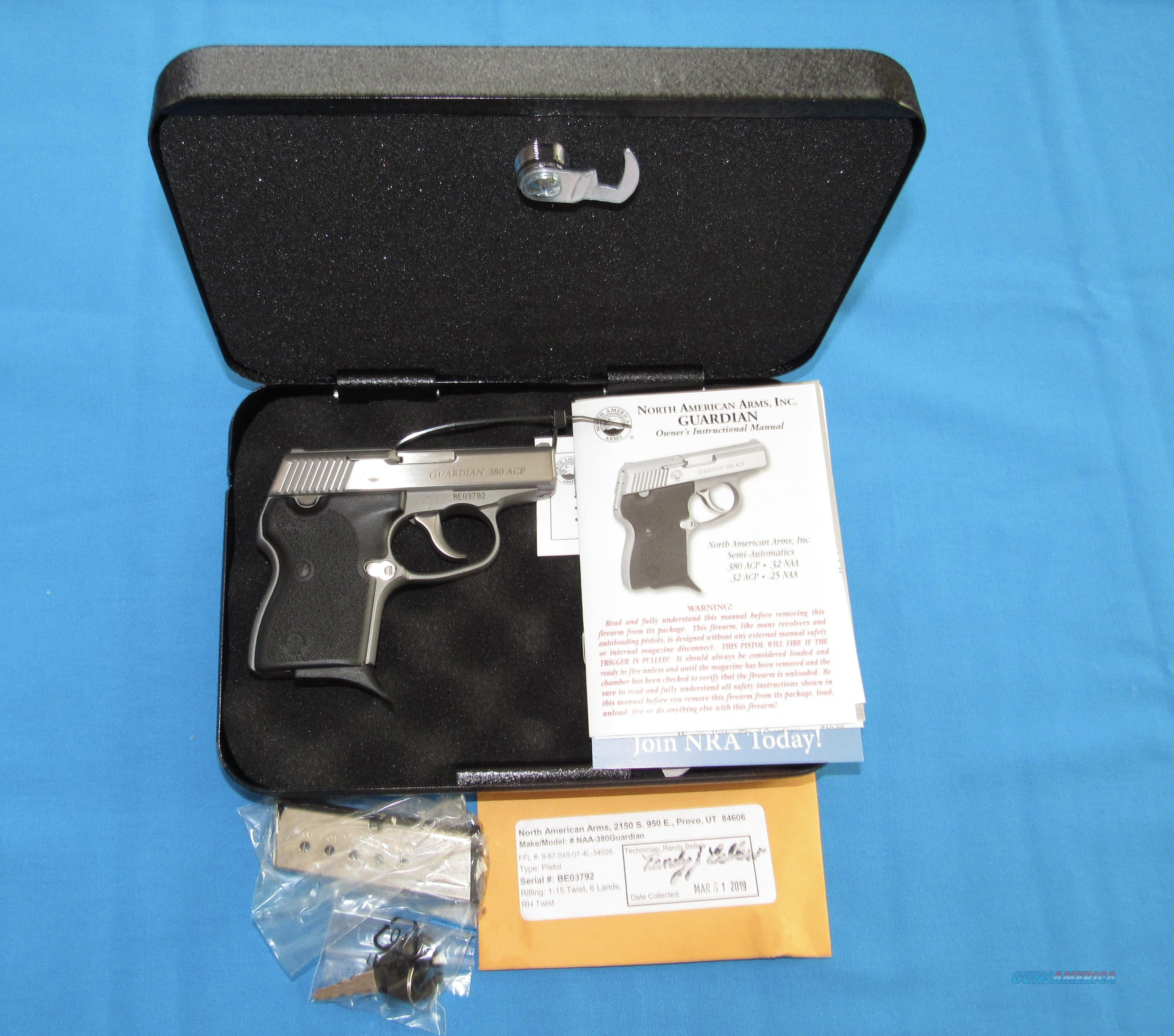 NORTH AMERICAN ARMS GUARDIAN 380ACP PISTOL  Guns > Pistols > North American Arms Pistols