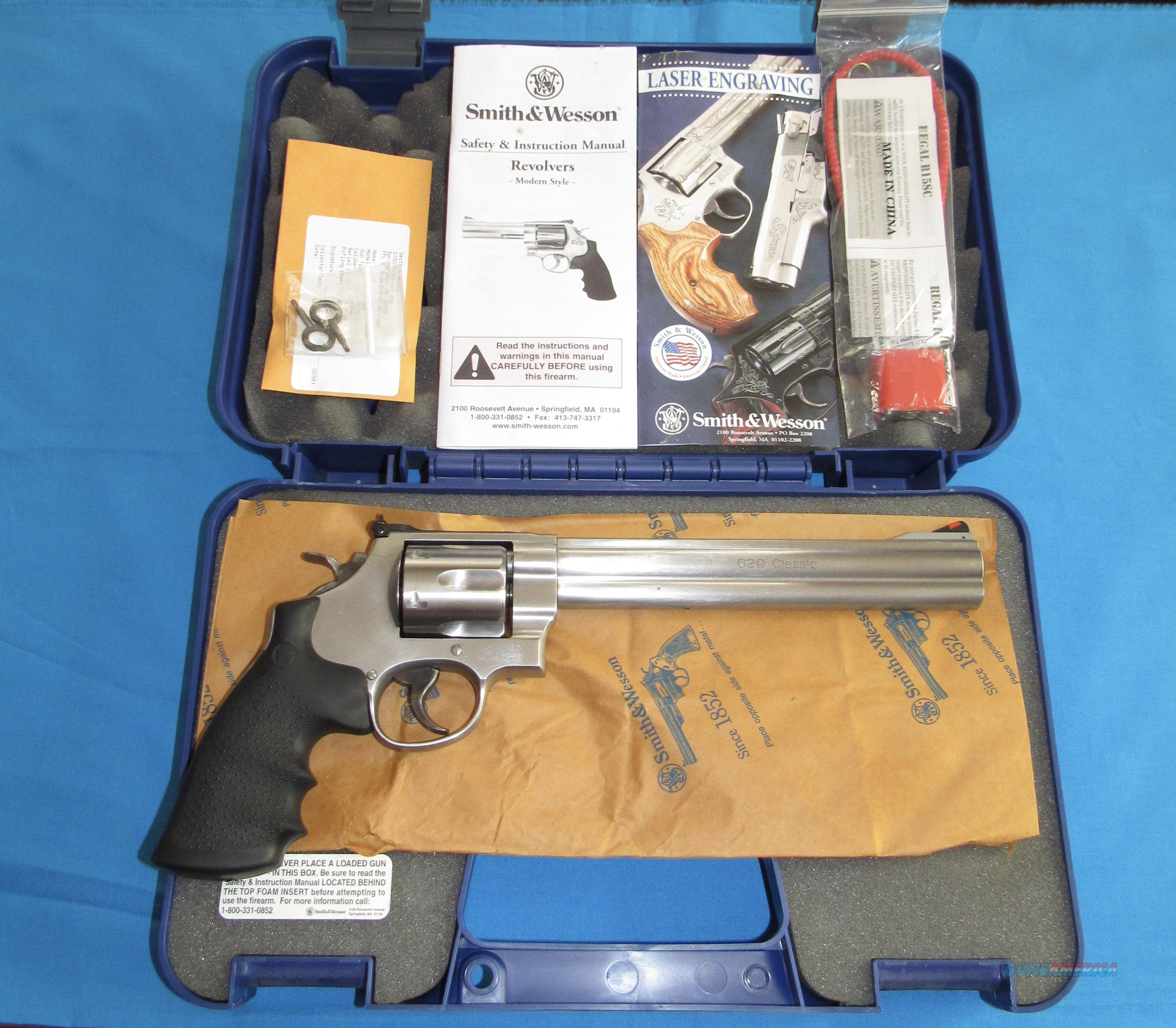 """SMITH & WESSON MODEL 629 CLASSIC 44 MAGNUM REVOLVER W/ 8 3/8"""" BBL  Guns > Pistols > Smith & Wesson Revolvers > Model 629"""