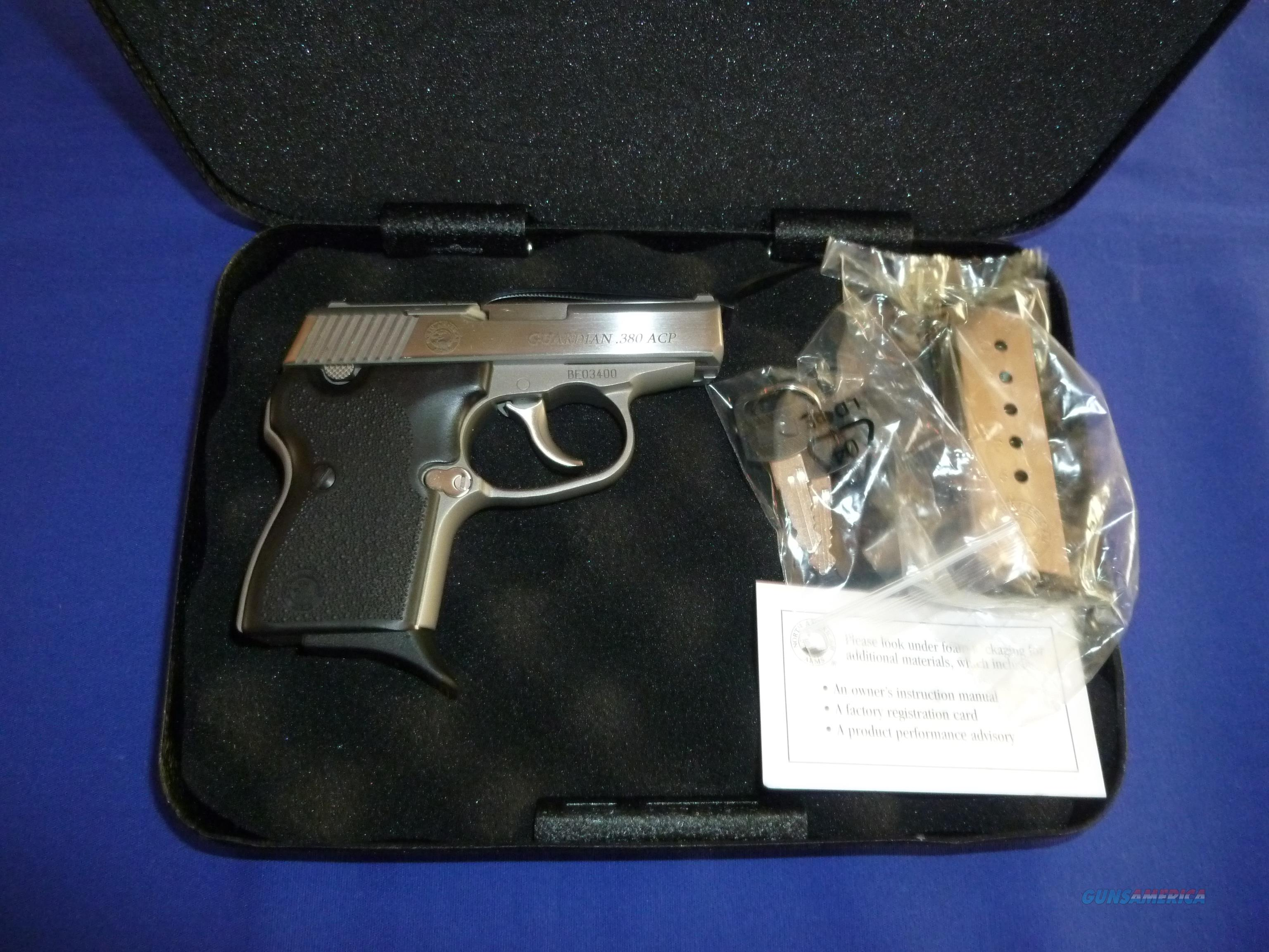 NORTH AMERICAN ARMS GUARDIAN 380 ACP PISTOL NEW!  Guns > Pistols > North American Arms Pistols