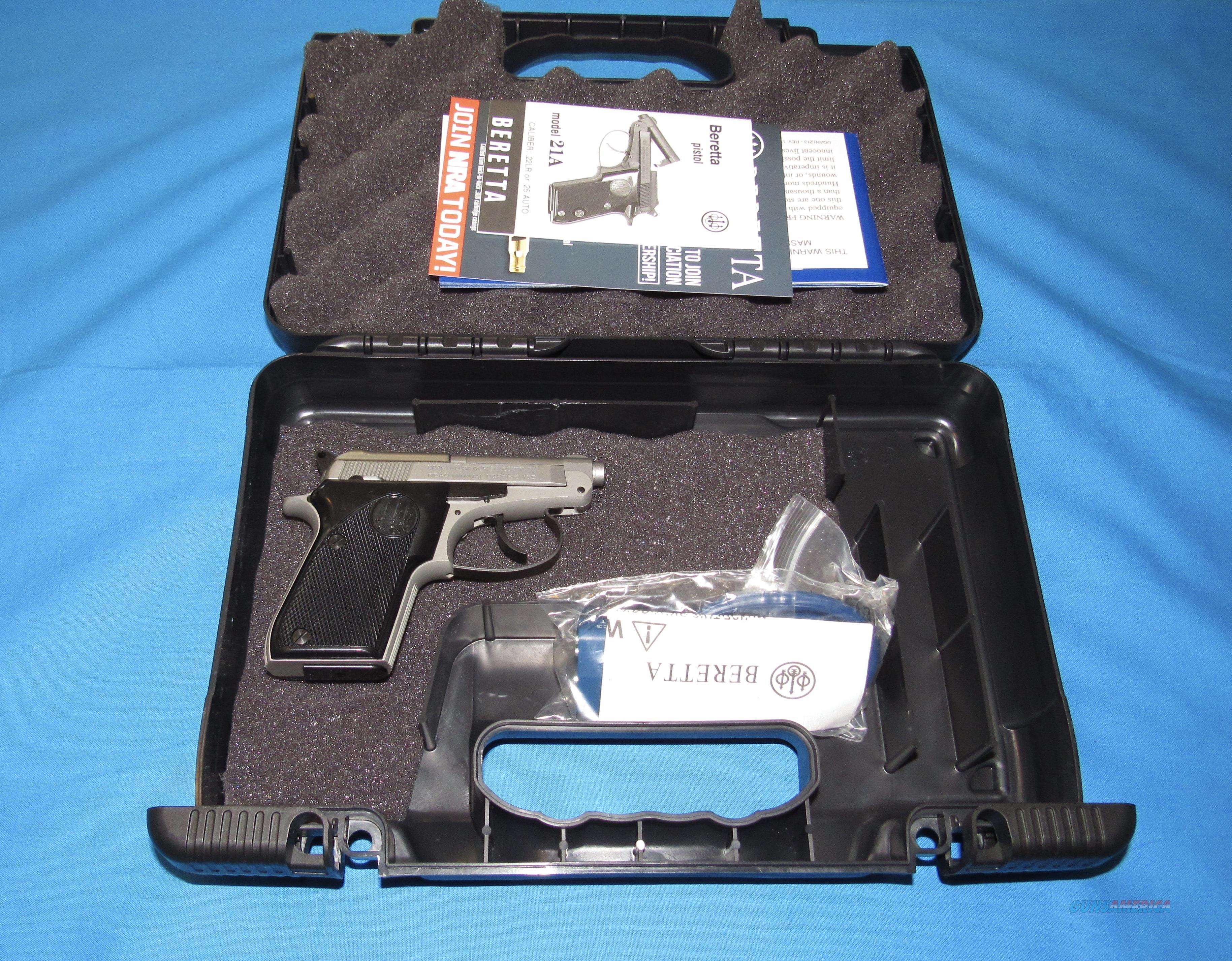 BERETTA 21 BOBCAT INOX 22LR SEMI-AUTO TIP-UP PISTOL  Guns > Pistols > Beretta Pistols > Small Caliber Tip Out