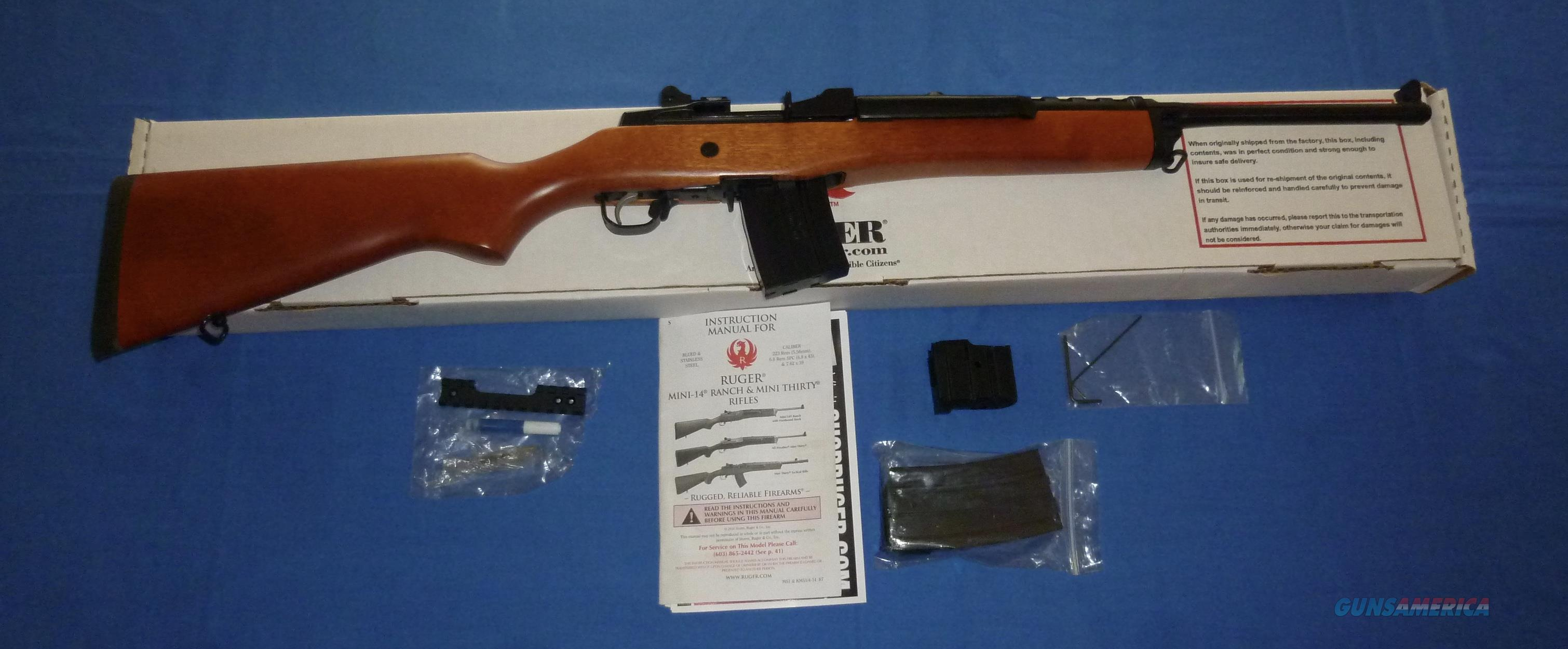 RUGER MINI-14 RANCH RIFLE .223 CALIBER  Guns > Rifles > Ruger Rifles > Mini-14 Type