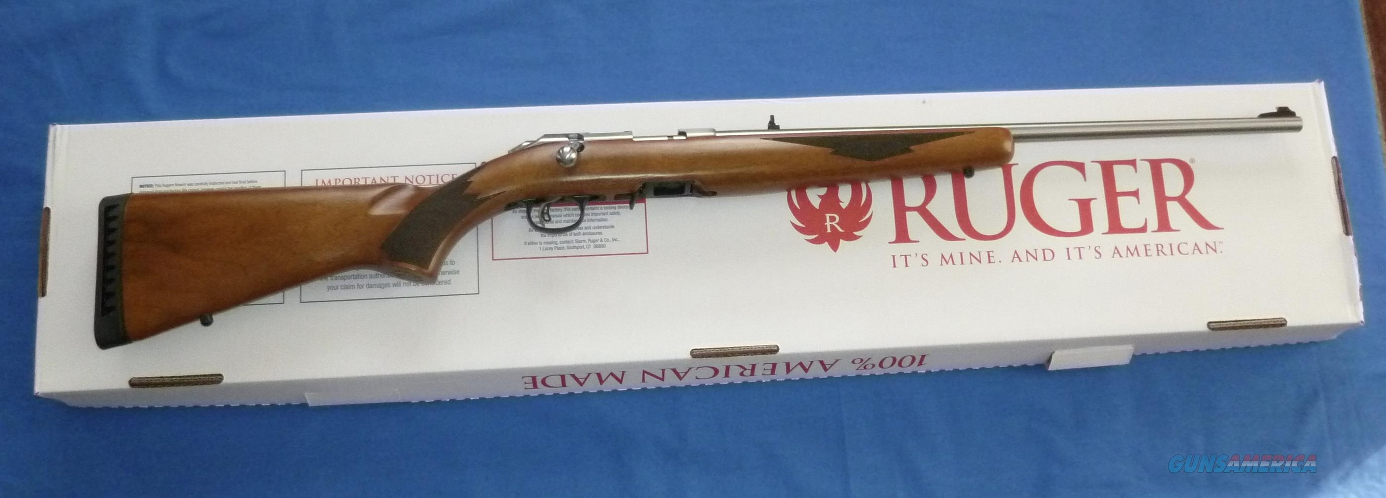 RUGER AMERICAN RIMFIRE STAINLESS STEEL 22LR RIFLE BOLT ACTION RIFLE W/WALNUT STOCK  TALO DISTR.  Guns > Rifles > Ruger Rifles > American Rifle