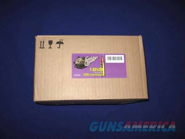 GOLDEN BEAR 7.62x39 CAL. 125 GR SOFT POINT BRASS COATED AMMO 1 CASE/500 RDS.  Non-Guns > Ammunition