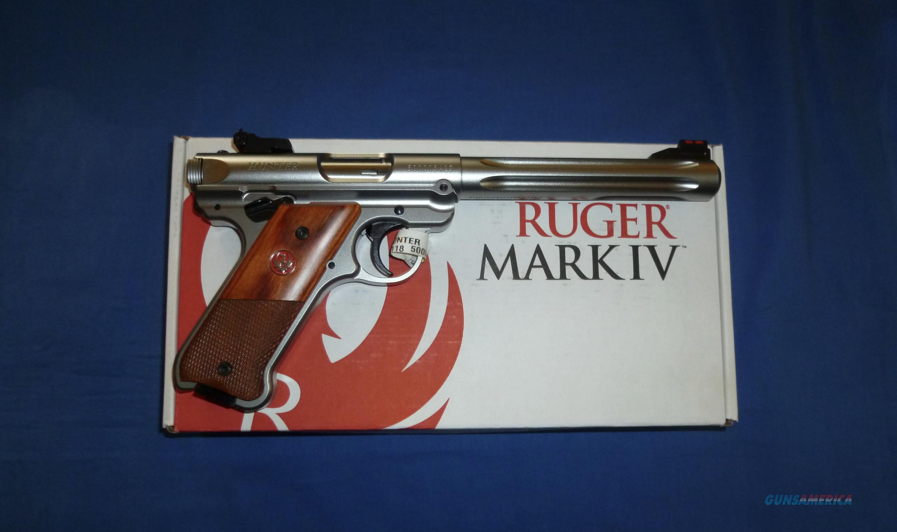 RUGER MARK IV HUNTER 22 LR PISTOL NEW!  Guns > Pistols > Ruger Semi-Auto Pistols > Mark I/II/III/IV Family