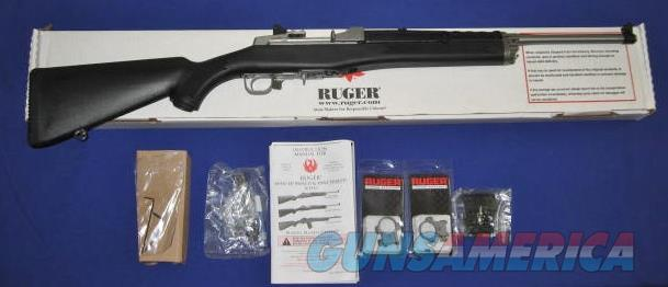 Ruger Mini-14 223 Caliber Ranch Rifle, Stainless Steel, Black Synthetic  Guns > Rifles > Ruger Rifles > Mini-14 Type
