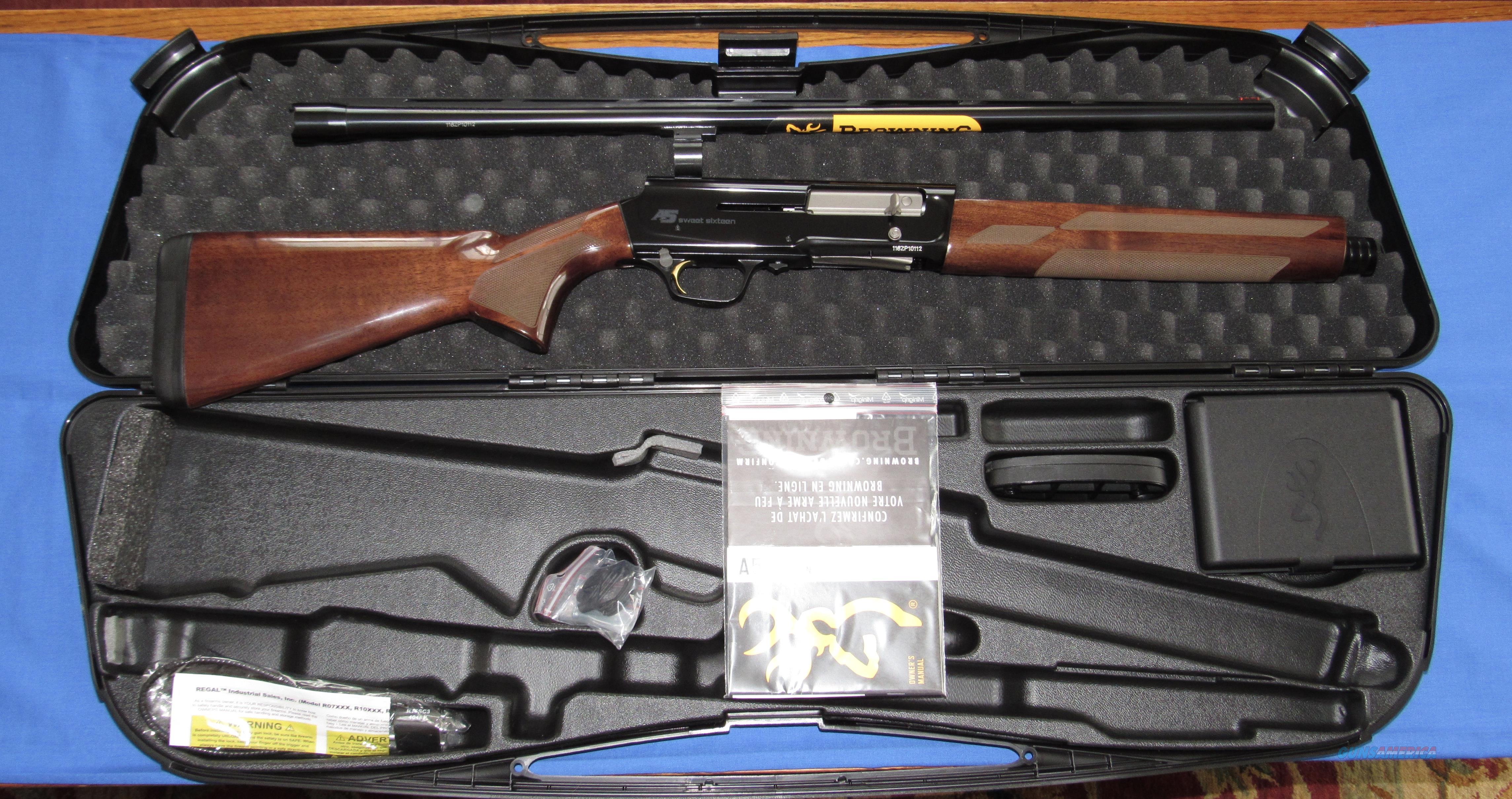 BROWING A5 SWEET SIXTEEN 16 GAUGE SEMI-AUTO SHOTGUN  Guns > Shotguns > Browning Shotguns > Autoloaders > Hunting