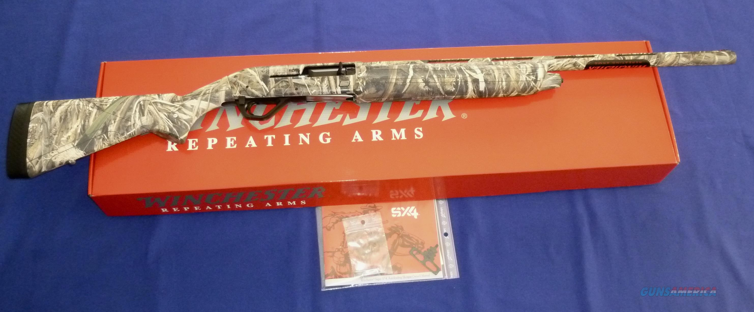 WINCHESTER SX4 MAX 5 WATERFOWL 12 GAUGE 3.5 MAGNUM SEMI-AUTO SHOTGUN NEW!  Guns > Shotguns > Winchester Shotguns - Modern > Autoloaders > Hunting