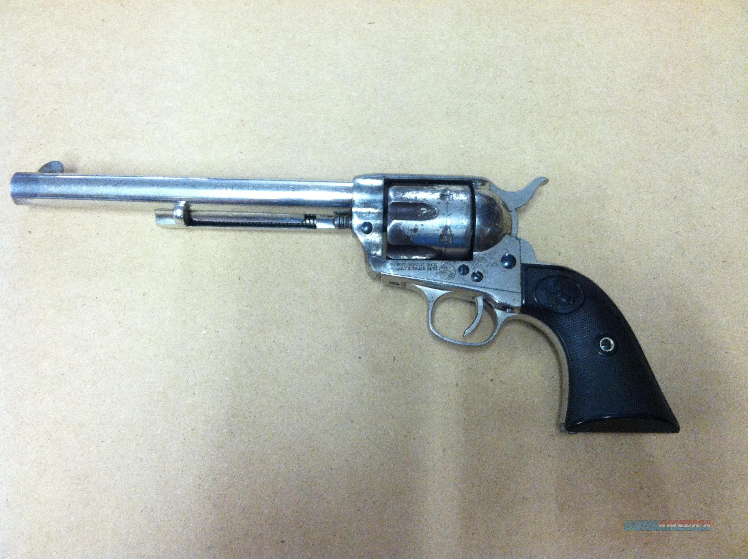 Colt Frontier Six Shooter 44-40 Nickel  Guns > Pistols > Colt Single Action Revolvers - 1st Gen.