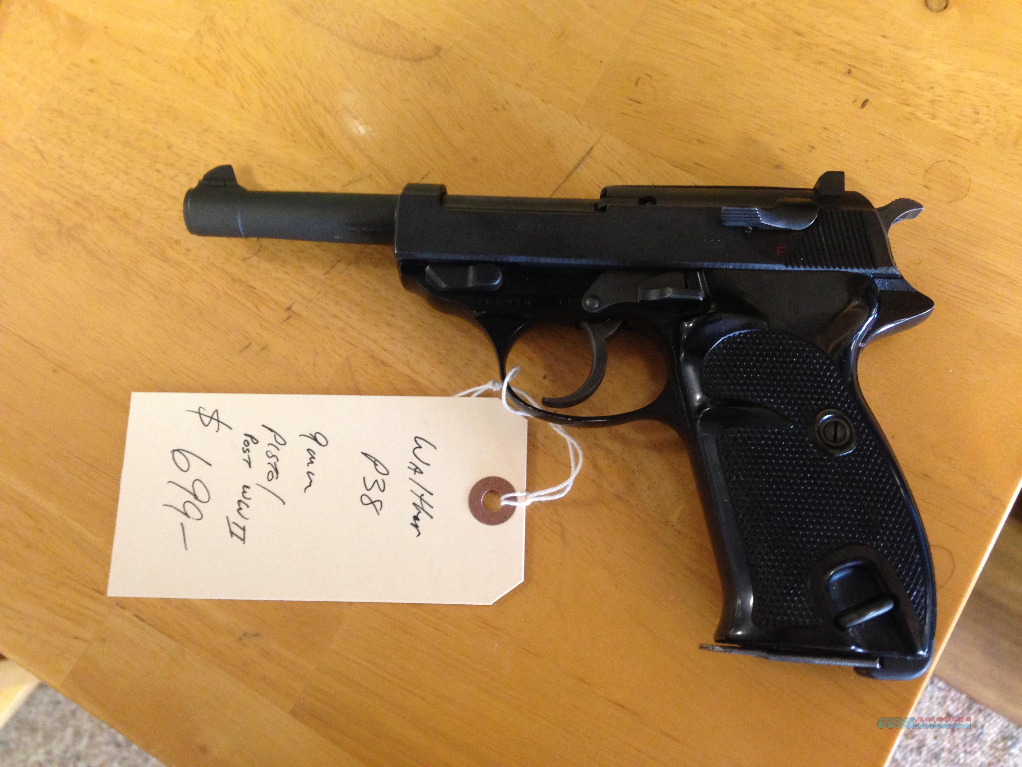Walther P38 9mm Luger Post WII  Guns > Pistols > Walther Pistols > Post WWII > P38