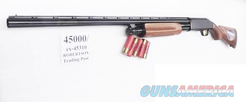Mossberg 12 gauge model 535 All Purpose Bright Blue & Checkered Hardwood 3 1/2 inch Magnum 28 inch Vent Rib Accu-choke 3 Tubes 3.5 Crown Grade type 45000 Pump Shotgun  Guns > Shotguns > Mossberg Shotguns > Pump > Sporting