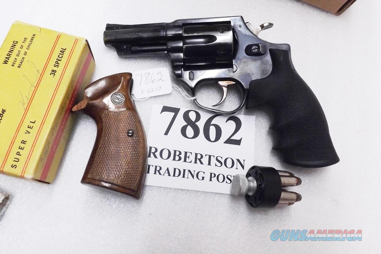 Astra Spain .38 Special Police model Large Frame Revolver 6 Shot 3 inch Blue Steel 2 Sets of Grips Very Good 1989 Guernica Vitoria Basque Municipal Police Issue +P OK  Guns > Pistols > Astra Pistols
