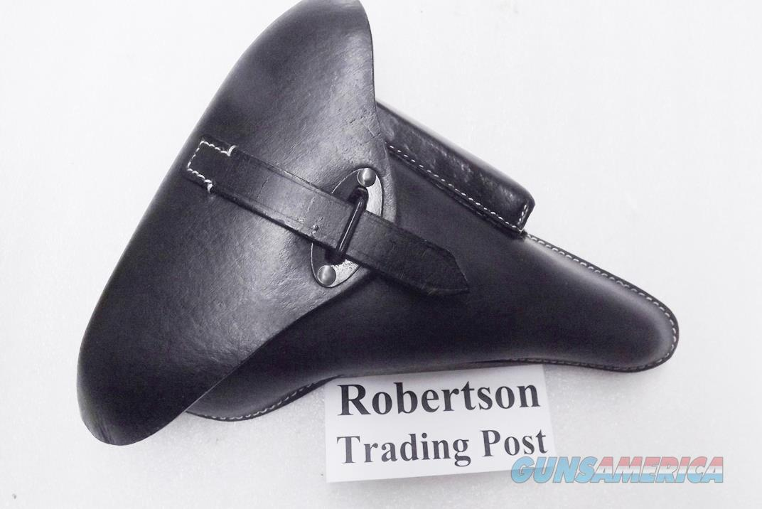 Walther P38 P1 Luger Holster Black Leather Hard Shell Type WWII Replica Surya India P38054 New with correct markings  Non-Guns > Holsters and Gunleather > Military