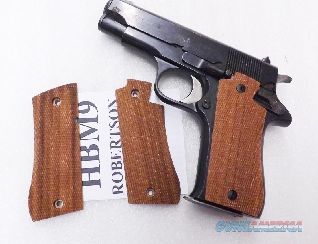 Herretts Cut Checkered Walnut Grips for Star model BM9 Pistols PD style appearance $3 Ship GRBM9   Non-Guns > Gunstocks, Grips & Wood