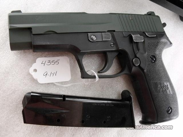 Sig 9mm P-226 Swiss Police Black Ice OD Green Teflon Slide P226 Sig Sauer all German with two Magazines CA MA OK 2000   Guns > Pistols > Sig - Sauer/Sigarms Pistols > P228
