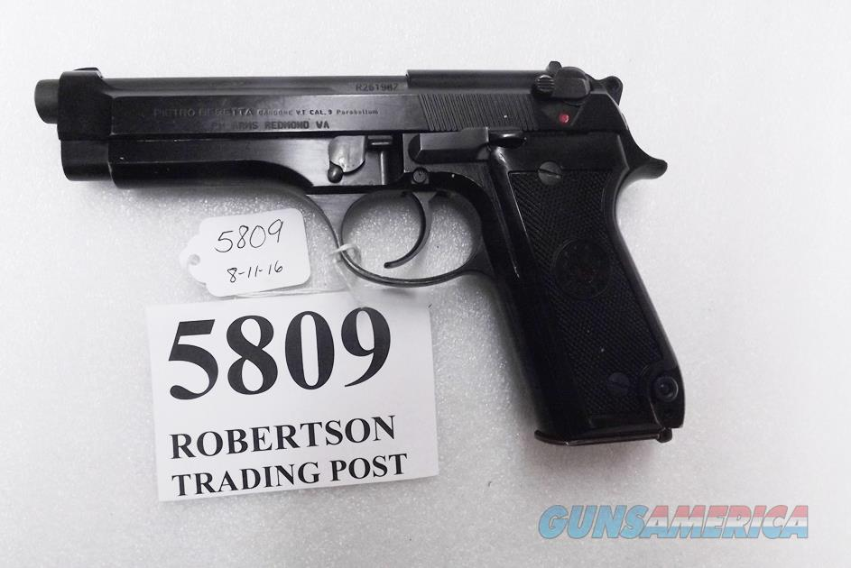 Beretta 9mm model 92S Italy Military Police Italian Carabinieri VG JS92F300M type / ancestor c1978 Chrome lined Factory Rebarrel with Muzzle Mar w1 15 round Magazine Gloss Anodized Frame, Factory Oxide Barrel & Slide VGC  Guns > Pistols > Beretta Pistols > Model 92 Series