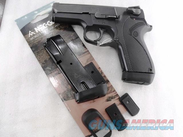 Smith & Wesson 9mm model 6906 Extended 15 Shot Magazine Mec-Gar 5915B with PGS Grip Adapter all new fits S&W models 469 669 6904 6906 6946 5915PG  Non-Guns > Magazines & Clips > Pistol Magazines > Smith & Wesson