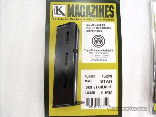 Star model BKS 9mm Triple K 8 Shot Blue Steel Magazines NIB BKS only no B no BM no BKM no BS 752M Buy Three Ships Free!  Non-Guns > Magazines & Clips > Pistol Magazines > Other