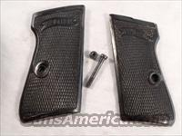 Grips Walther PP or PPK/S Grips Heavy Black Rubber Factory ca 1950s VG Cond with Screw  Non-Guns > Gun Parts > Grips > Other