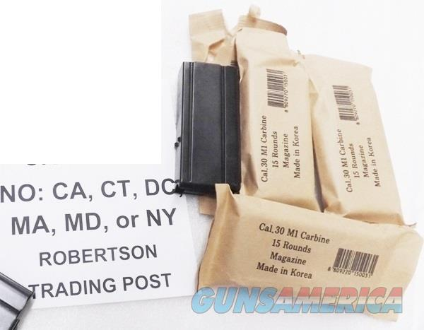 10 M1 Carbine Magazines 30 caliber 15 Round KCI Blue Steel South Korean Military New Unissued M-1 .30 Cal M1C15    Non-Guns > Magazines & Clips > Rifle Magazines > Other