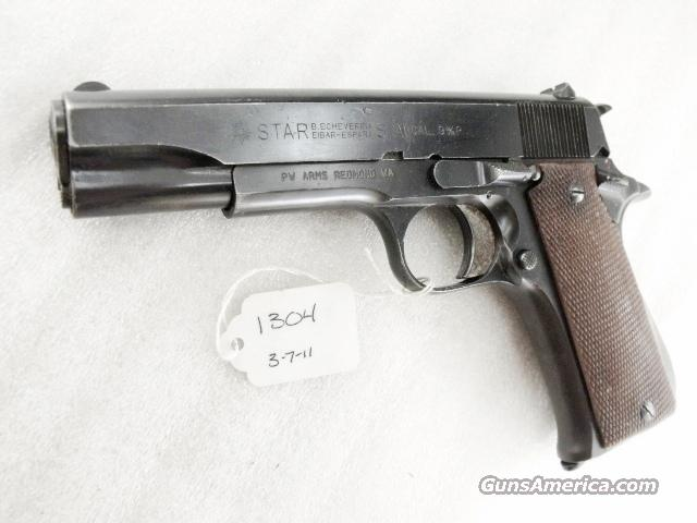 Star Spain 9mm Model BS Colt Government Size Steel Frame 1974 Israeli Army Police VG 1 Magazine  Guns > Pistols > Star Pistols