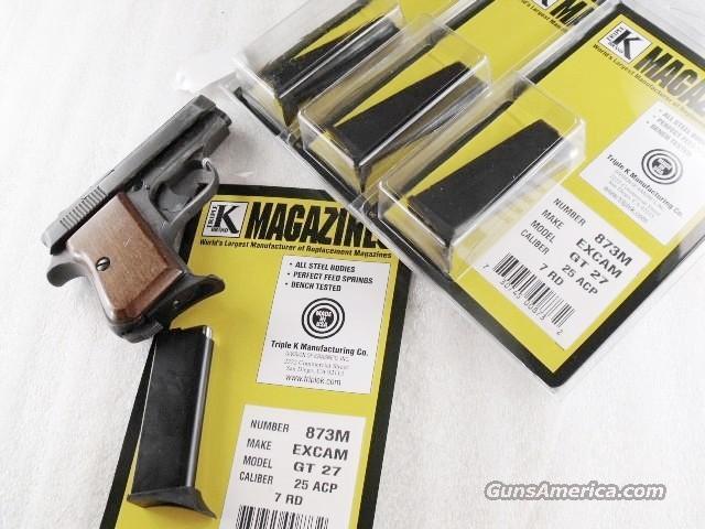FIE E27 .25 auto Triple K 7 Shot Magazine Titan E-27 Targa Excam GT27 QFI F.I.E. 25 Automatic Clip   Non-Guns > Magazines & Clips > Pistol Magazines > Other
