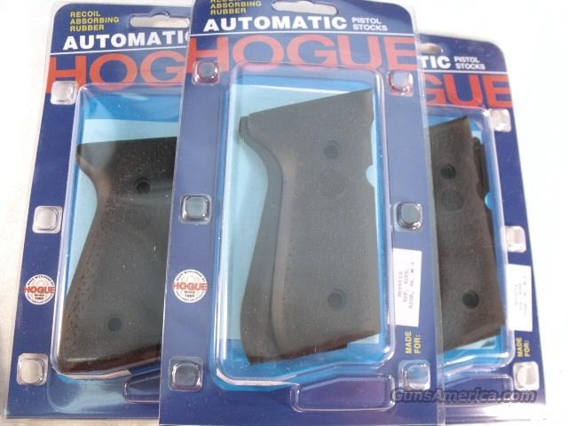 Beretta 92FS Hogue Grips fit 92SB, 92SBF Combat Stippled Black Rubber Panels 92010  Non-Guns > Gunstocks, Grips & Wood