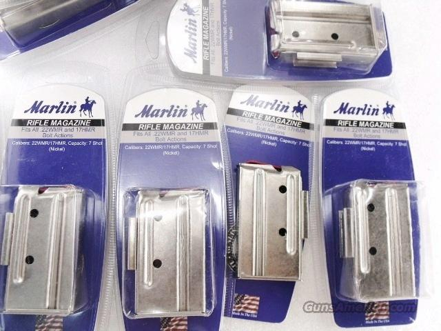 Lots of 3 or more Magazine Marlin .22 Magnum or .17 HMR 7 Shot Nickel Steel New Haven CT manufactured Fit all models including 25M 725M 782 882 982 917 925 925M $19 per on 3 or more   Non-Guns > Magazines & Clips > Rifle Magazines > Other