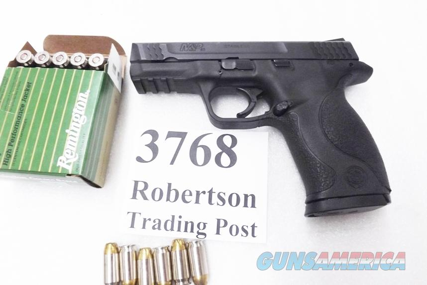 Smith & Wesson .45 ACP model M&P45 Black Stainless 4 inch 1 Magazine 2007 Shreveport PD VG 10113  Guns > Pistols > Smith & Wesson Pistols - Autos > Polymer Frame