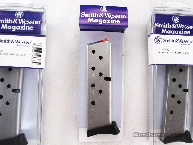 Smith & Wesson 3913 Compact Factory 8 Shot Magazine New Compact XM19070 fits model s 3913, 3914, 908, 908S, 3953  Non-Guns > Magazines & Clips > Pistol Magazines > Smith & Wesson