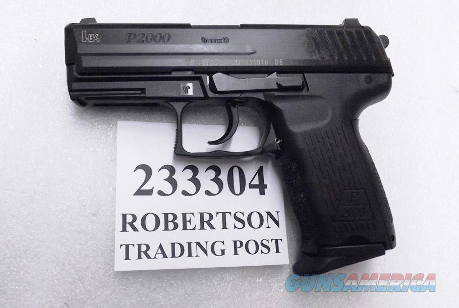 H&K 9mm model P2000 V3 Compact Variant 3. New Unfired in Box 2014 Production All German. Marked HK Sidearms GmbH.  Test Target 2 13 round magazines 233304 DA SA Decocker  Guns > Pistols > Heckler & Koch Pistols > Polymer Frame
