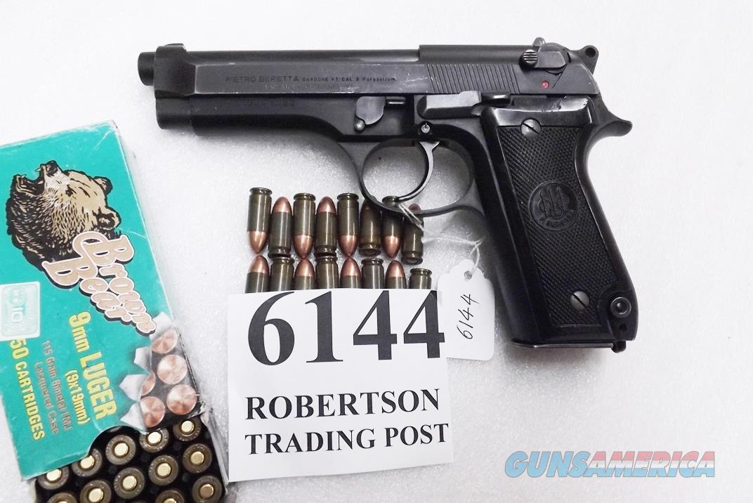 Beretta 9mm model 92S Italy Military Police Italian Carabinieri VG+ JS92F300M type / ancestor c1978 Brunitron Frame, Oxide Slide & Barrel w1 15 round Magazine +OR  Guns > Pistols > Beretta Pistols > Model 92 Series