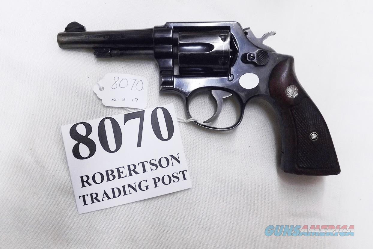 Smith & Wesson .38 Special Model 10 No Suffix 1961 Very Good Montreal Police Department 4 Screw Blue Square Butt 4 inch Pencil Barrel Diamond Grips  Guns > Pistols > Smith & Wesson Revolvers > Full Frame Revolver