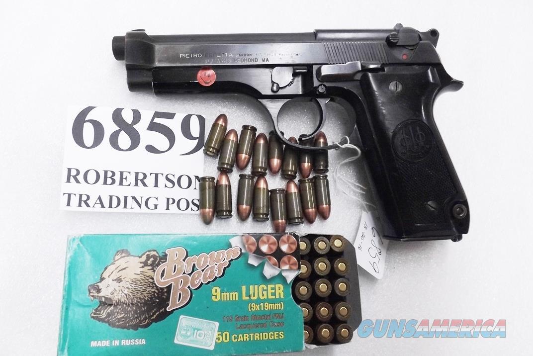 Beretta 9mm model 92S Italy Military Police Italian Carabinieri VG JS92F300M type / ancestor c1978 Blue Frame & Slide, Chrome Lined Oxide Barrel, w1 15 round Magazine VGBOC  Guns > Pistols > Beretta Pistols > Model 92 Series