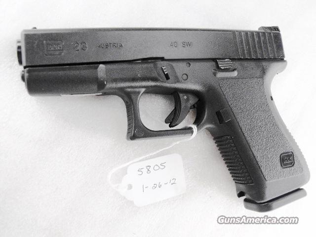 Glock .40 S&W Model 23 First Generation 14 Shot 2 Magazines Adjustable 1986 Minnesota Civilian Pistol Excellent in Box   Guns > Pistols > Glock Pistols > 23